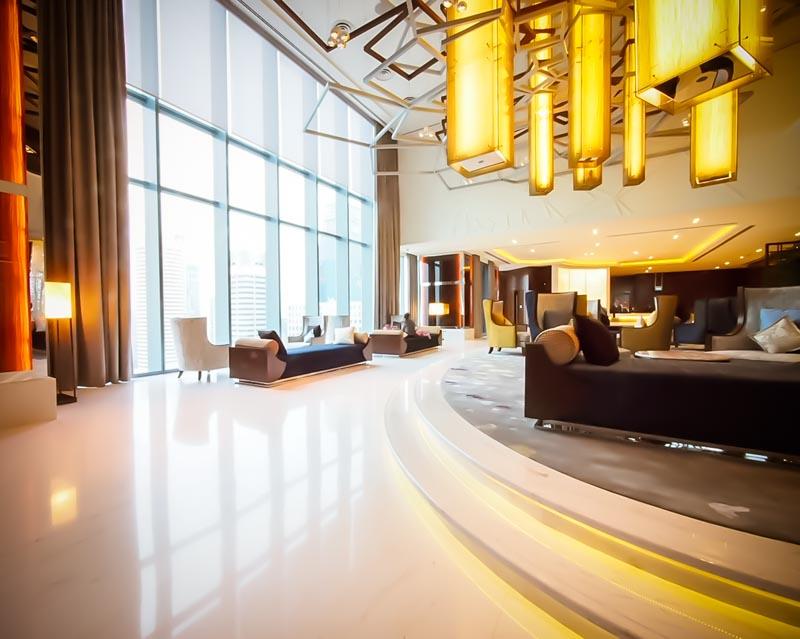 シンガポールウェスティン上層階ロビー