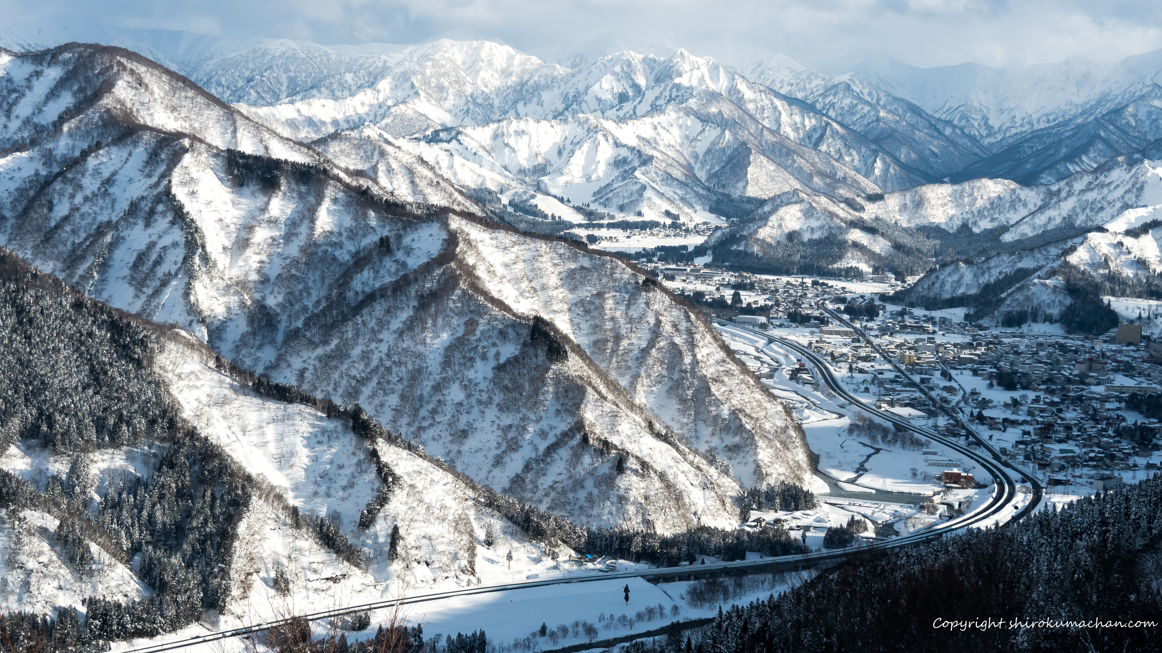Snow Mountain Niigata UHD Wall Paper