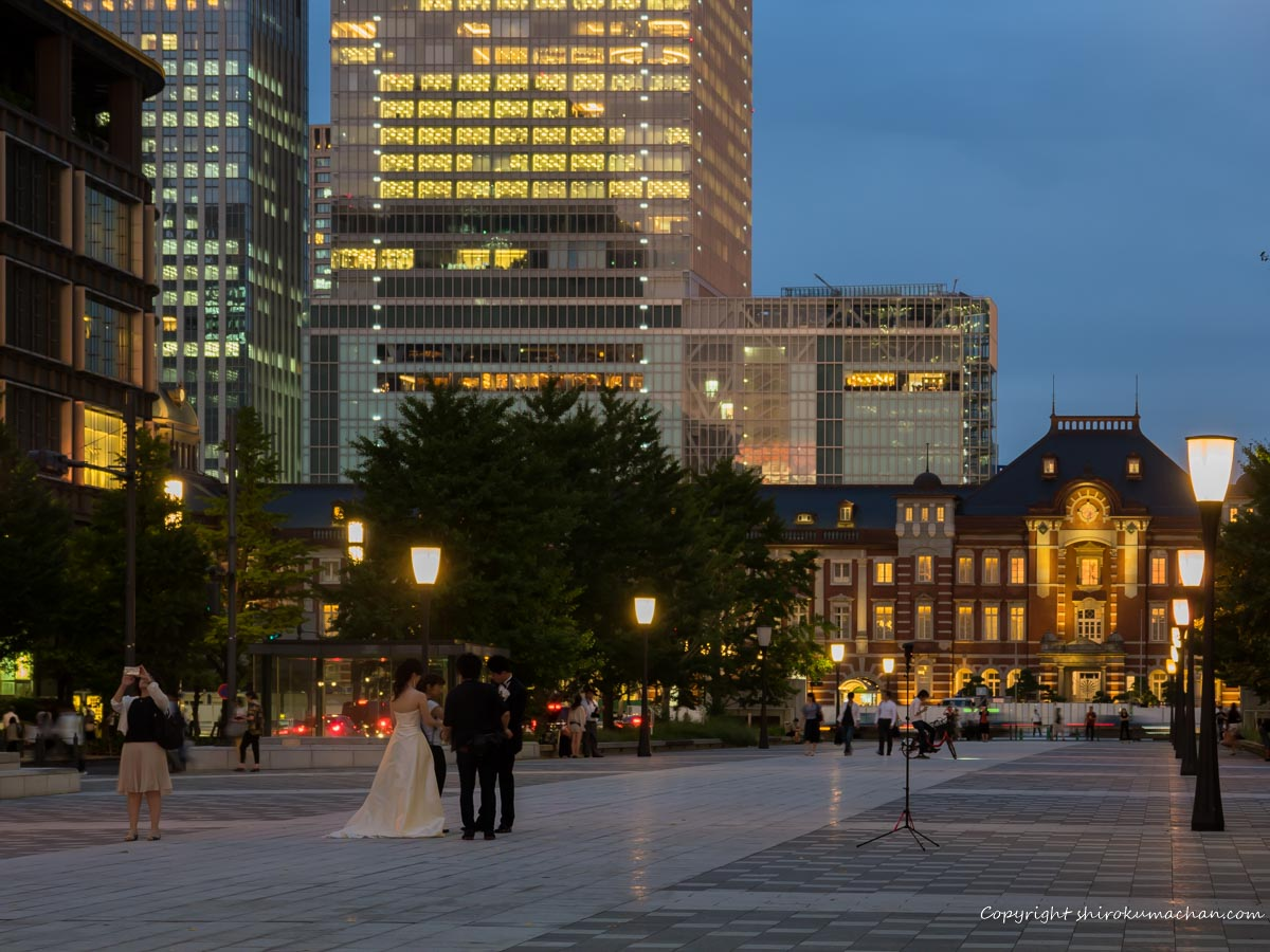 東京駅で前撮り