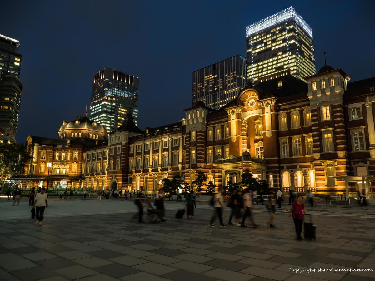東京駅前夜景