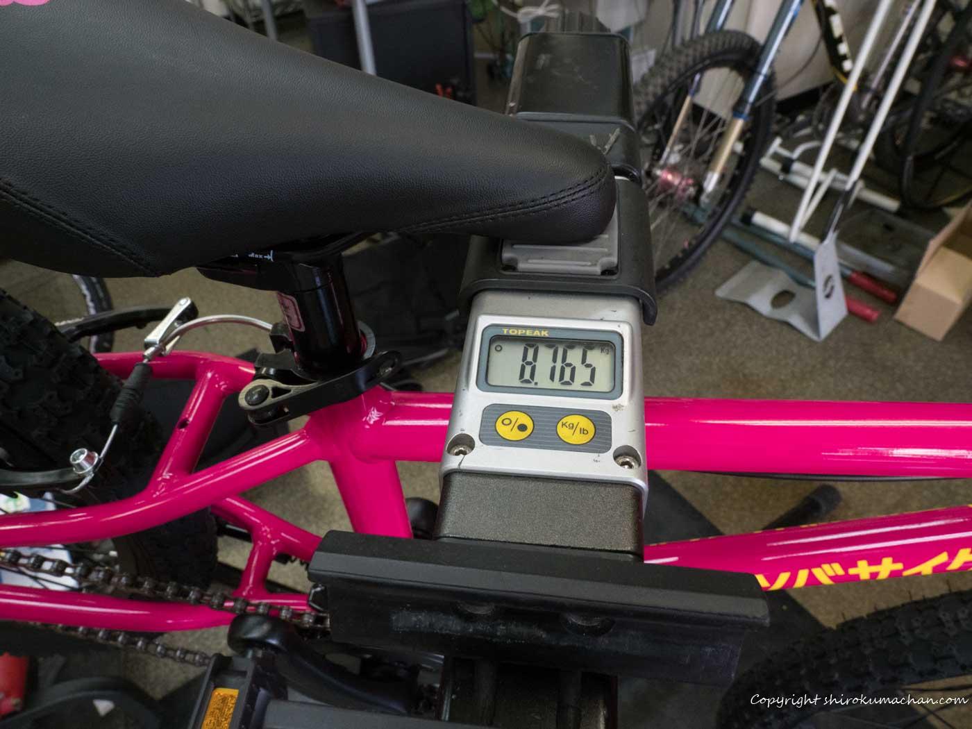 ヨツバサイクル20インチ実重量