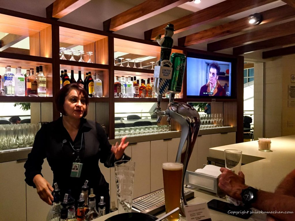 Star Alliance Lounge Los Angels-生ビール