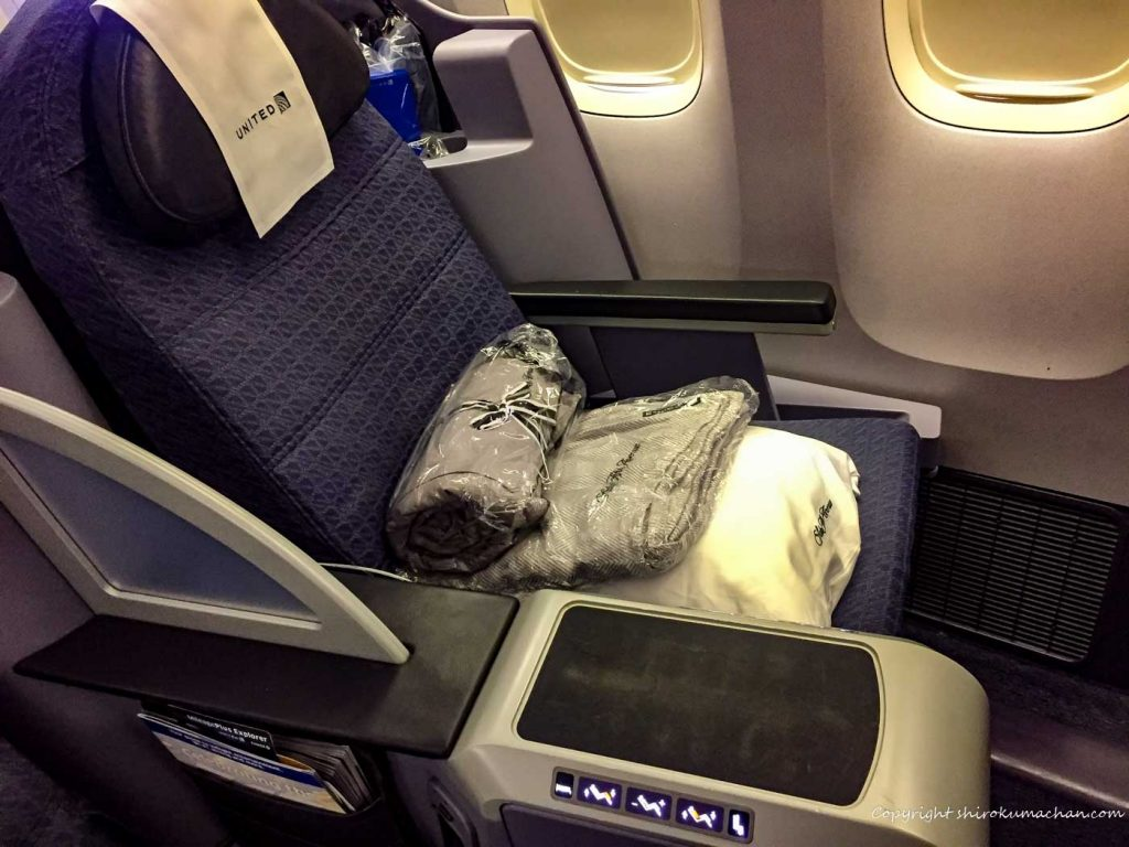 United Airlines Business Class Seat