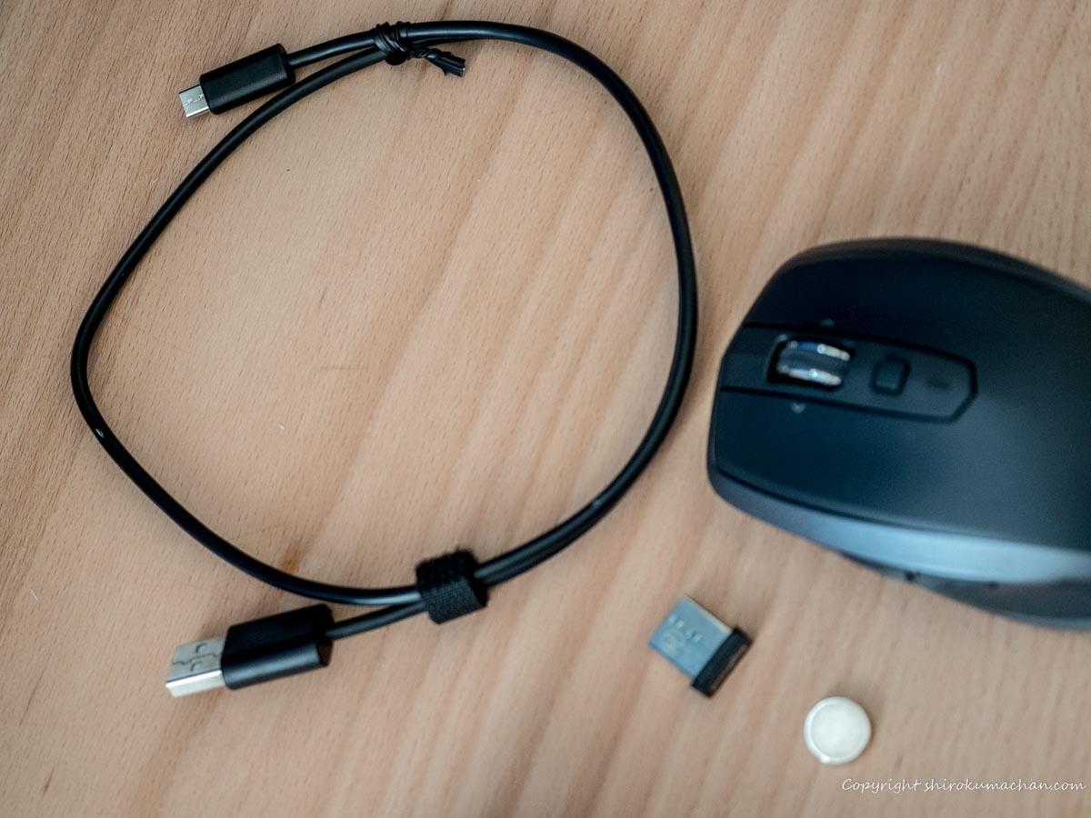 logicool mouse MX1600sGR ANYWHERE 2S 充電ケーブル