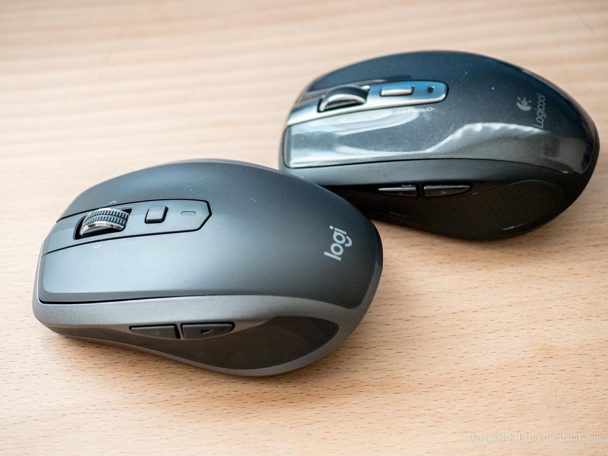 logicool mouse MX1600sGR ANYWHERE 2S new model and old model