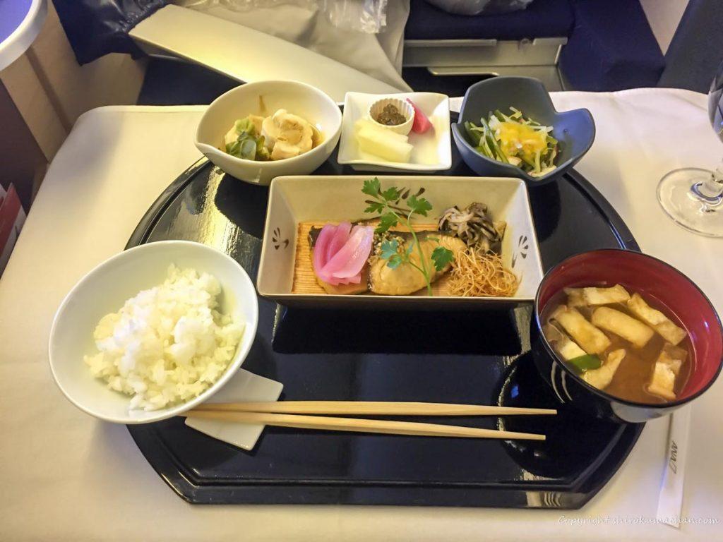 ANA First Class Main Dish