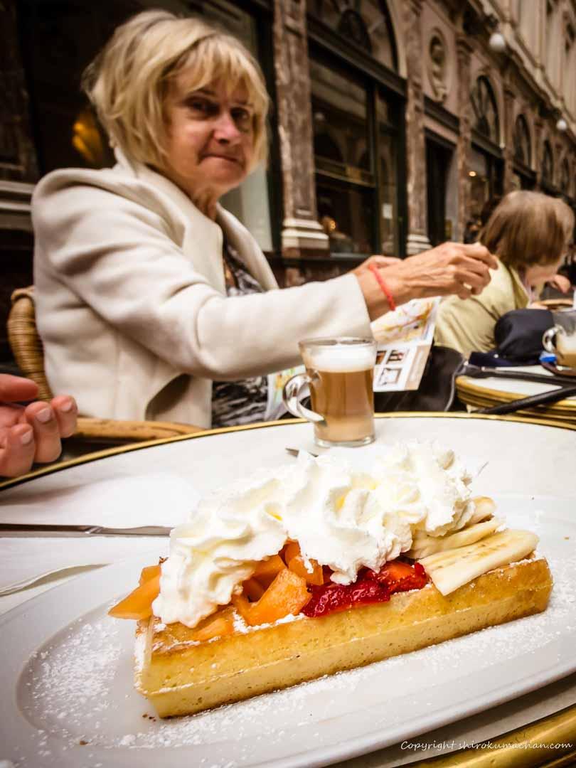 Belgian Waffle Mokafé in Brussels, Belgium