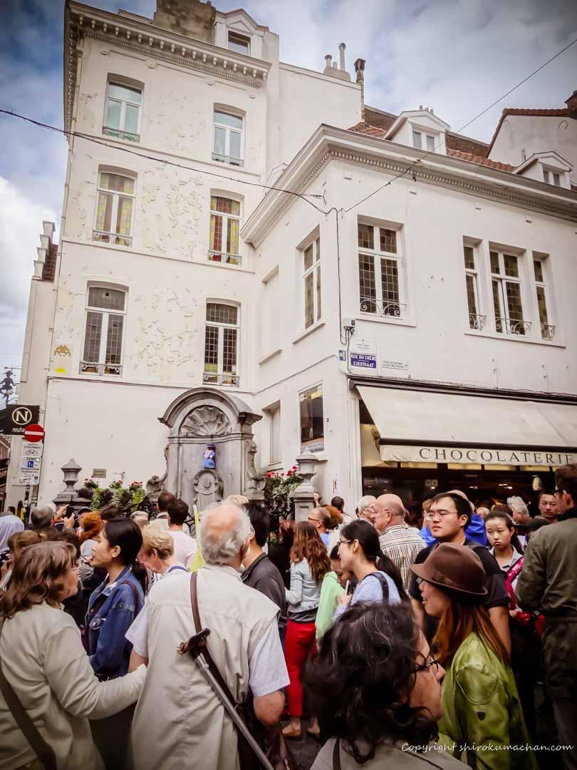 Manneken Pis in Brussels