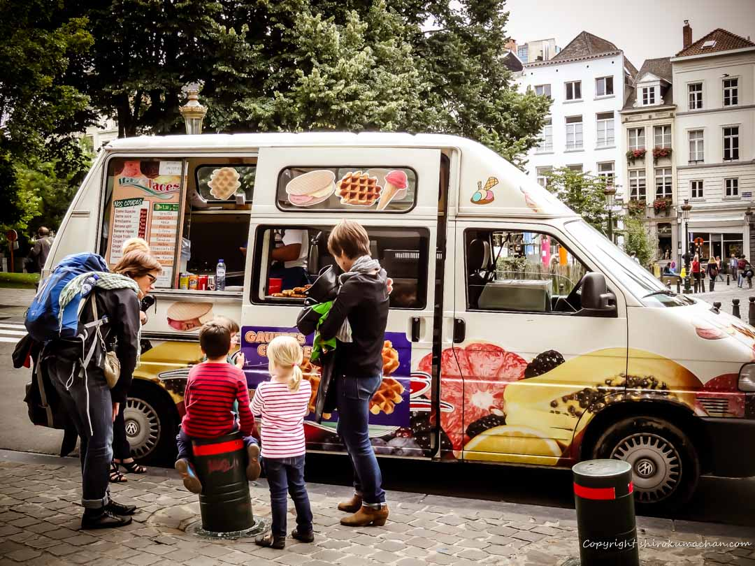 Waffle Car in Brussels, Belgium