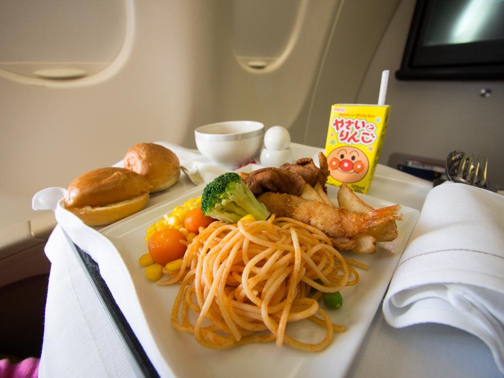 シンガポール航空ビジネスクラス機内食-2