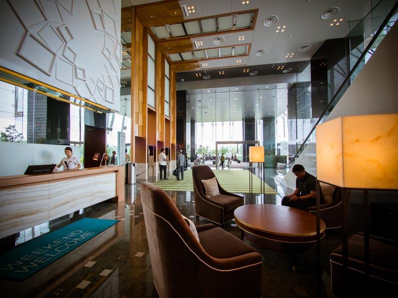 シンガポールウェスティン地上階ロビー