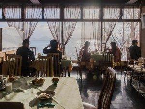丸駒温泉旅館 朝食会場