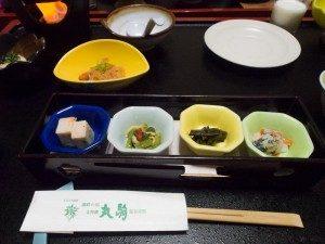 丸駒温泉旅館 食事例