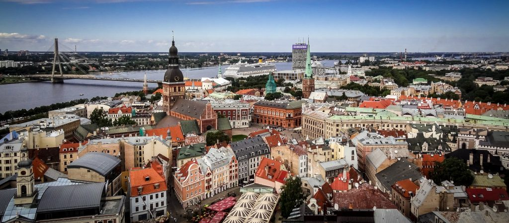 wallpaper dual monitor HD Riga Latvia