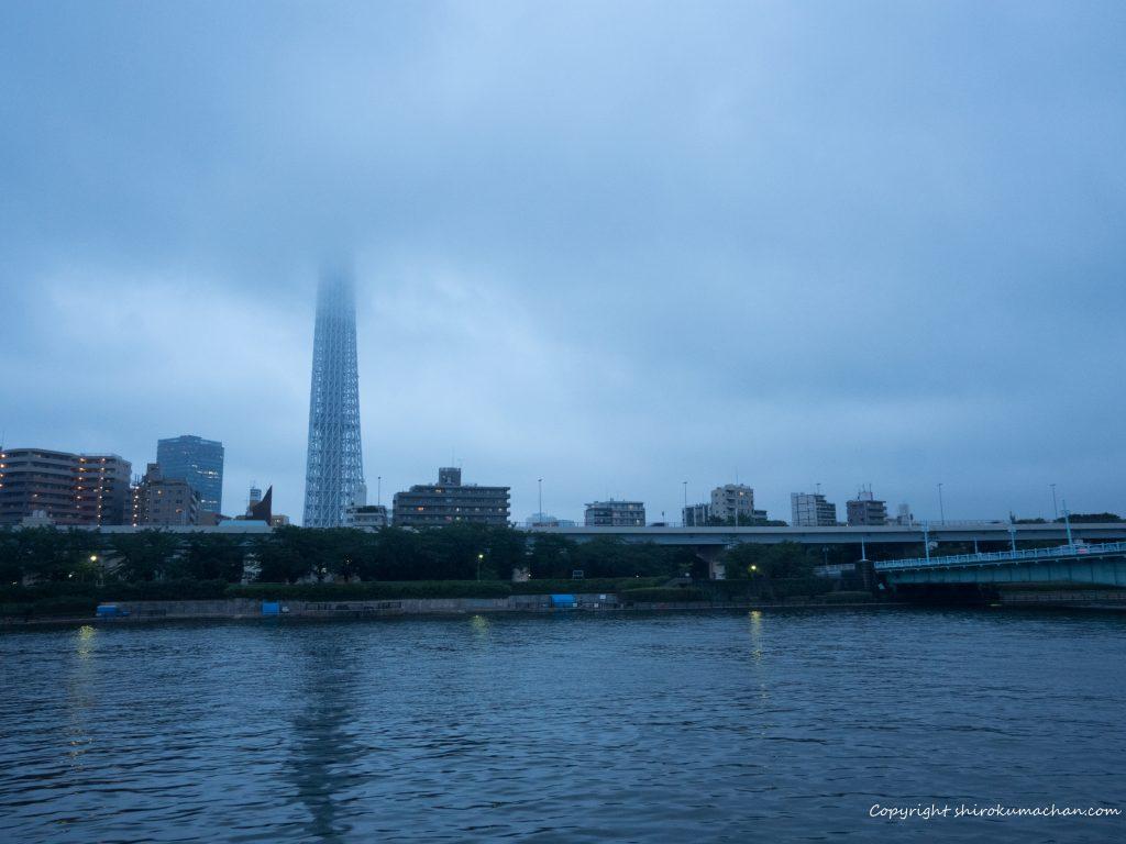屋形船から見る東京スカイツリー