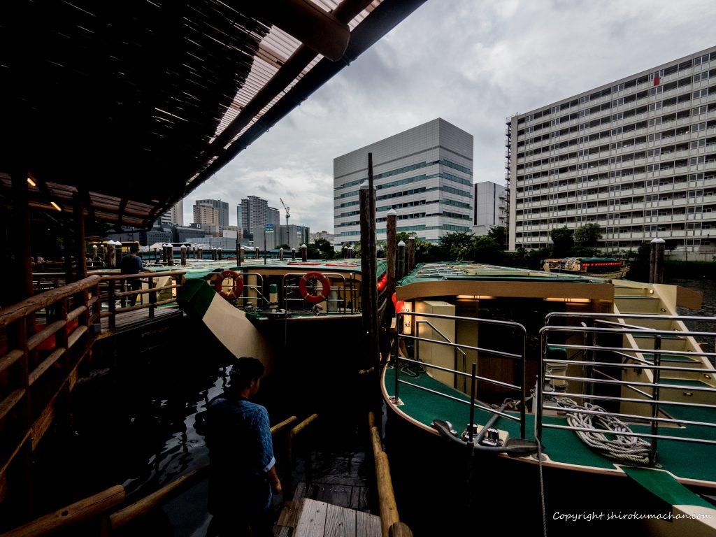 屋形船船清の船着き場