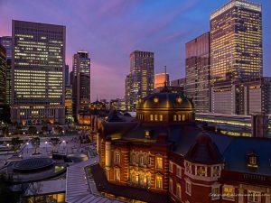 東京駅夜景撮影