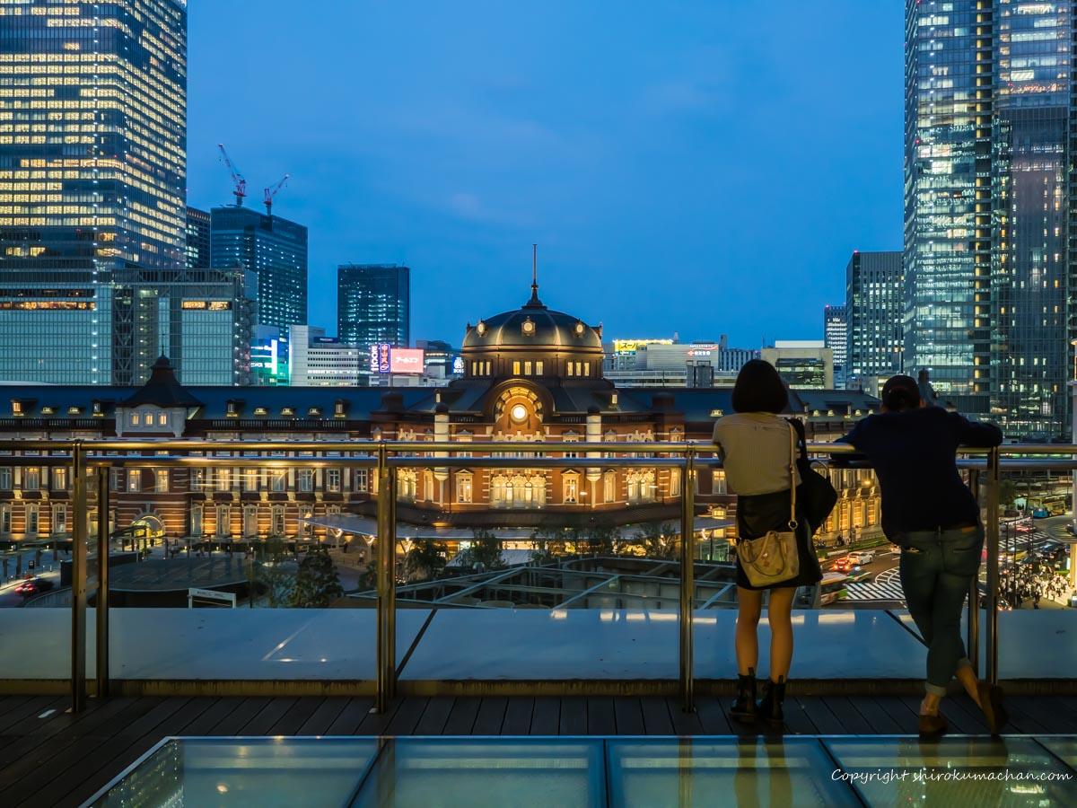 東京駅丸ビルの夜景