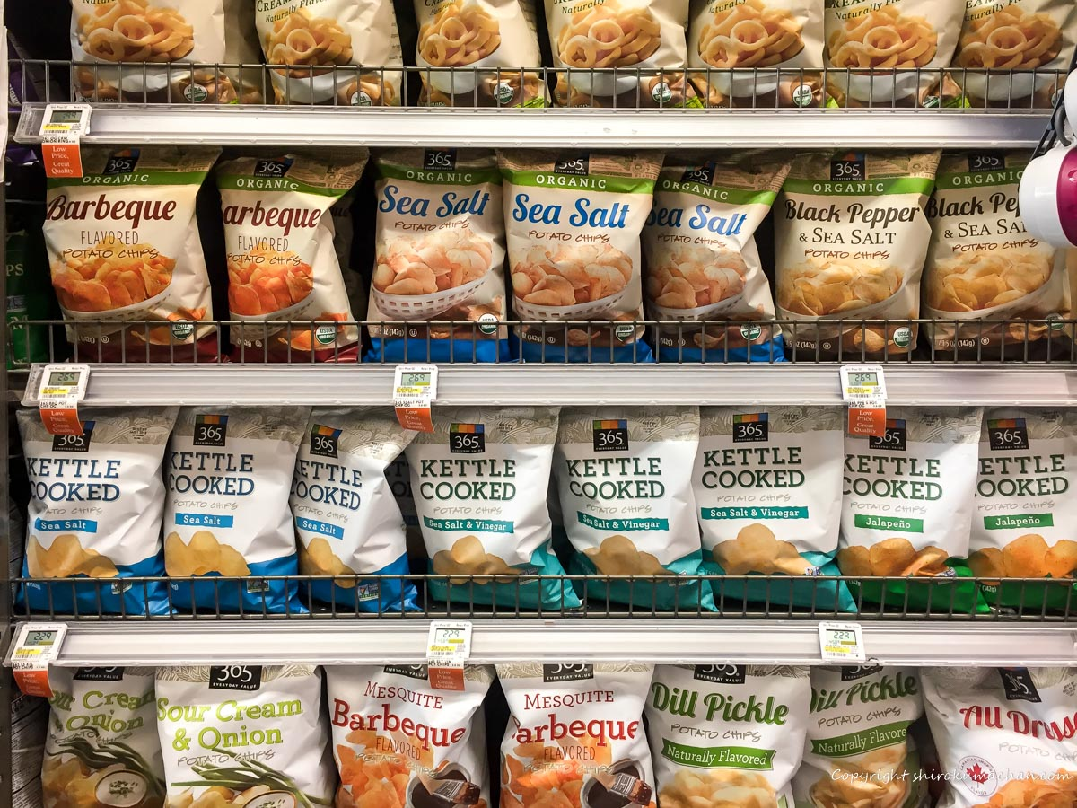 Whole Foods Marketお土産にポテトチップス