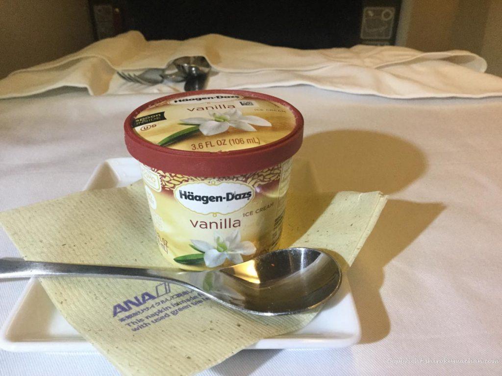 ANA Business Class ハーゲンダッツアイスクリーム