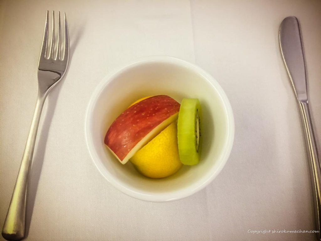 ANA Business Class Food-Fruits