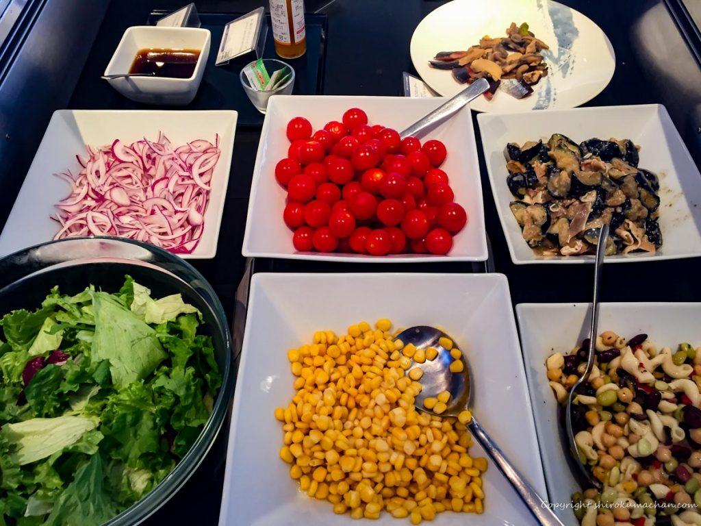 ANA Suite Lounge Narita-Saladas