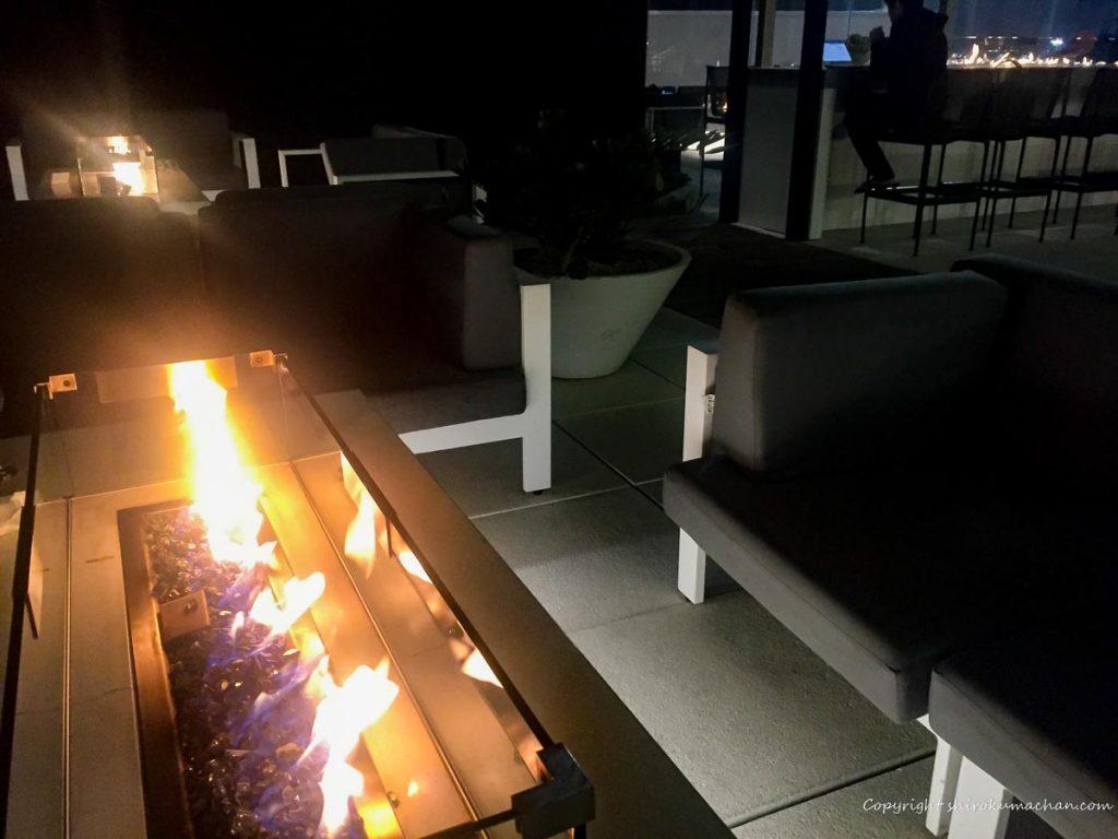 ロサンゼルス空港のビジネスクラスラウンジ