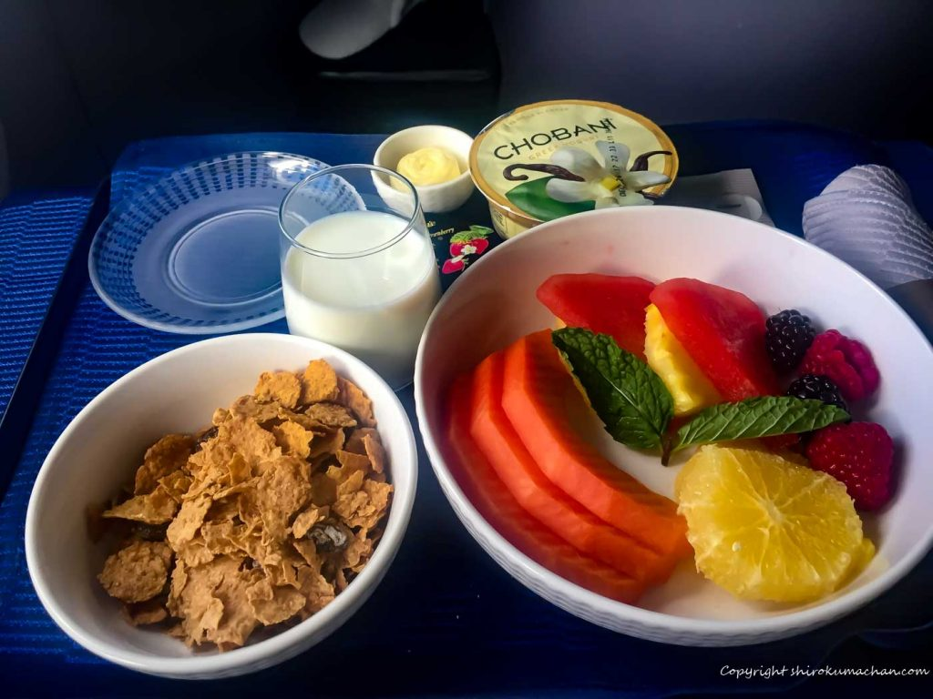 United Airlines Business Class Reviews-Breakfsat