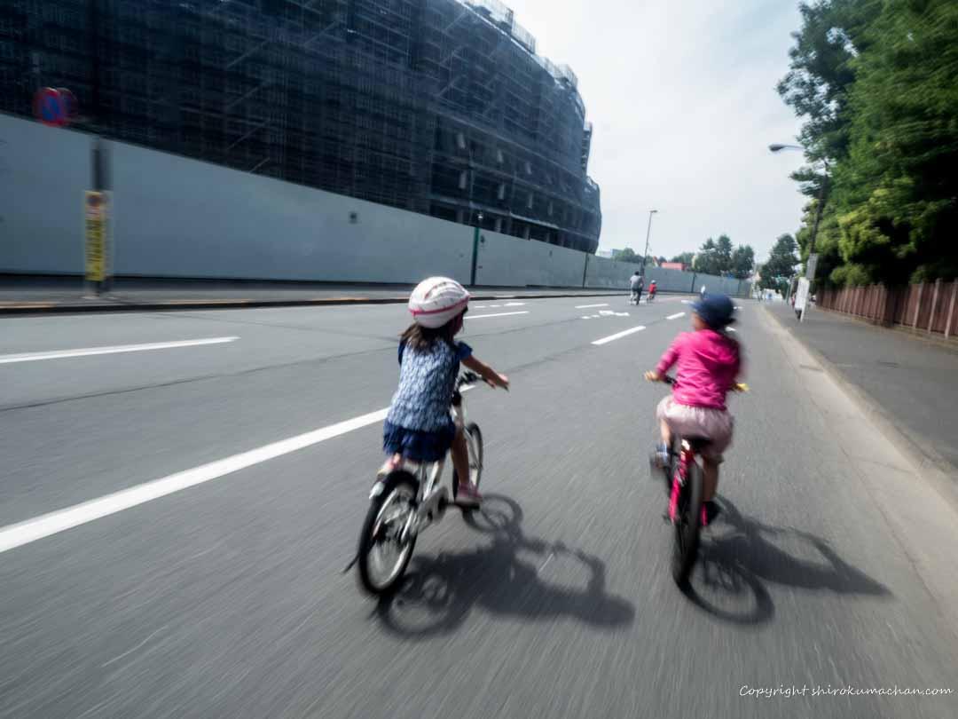 建設中の新国立競技場を見ながらサイクリング