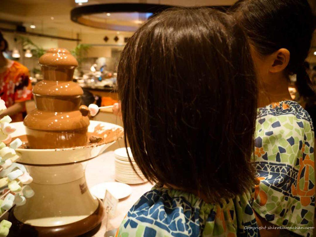 hawaiians チョコレートファウンテン