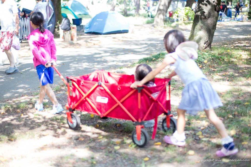 上大島キャンプ場-駐車場からの移動