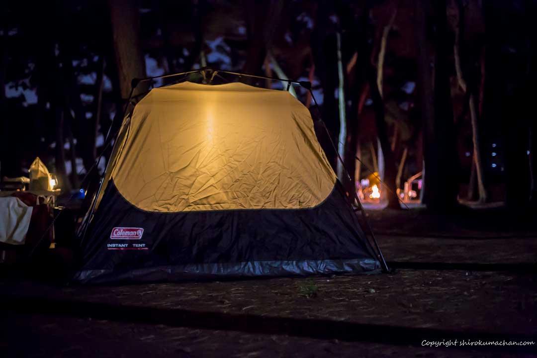 上大島キャンプ場-夜