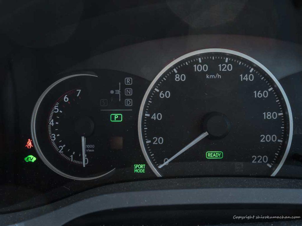 Lexus CT tachometer