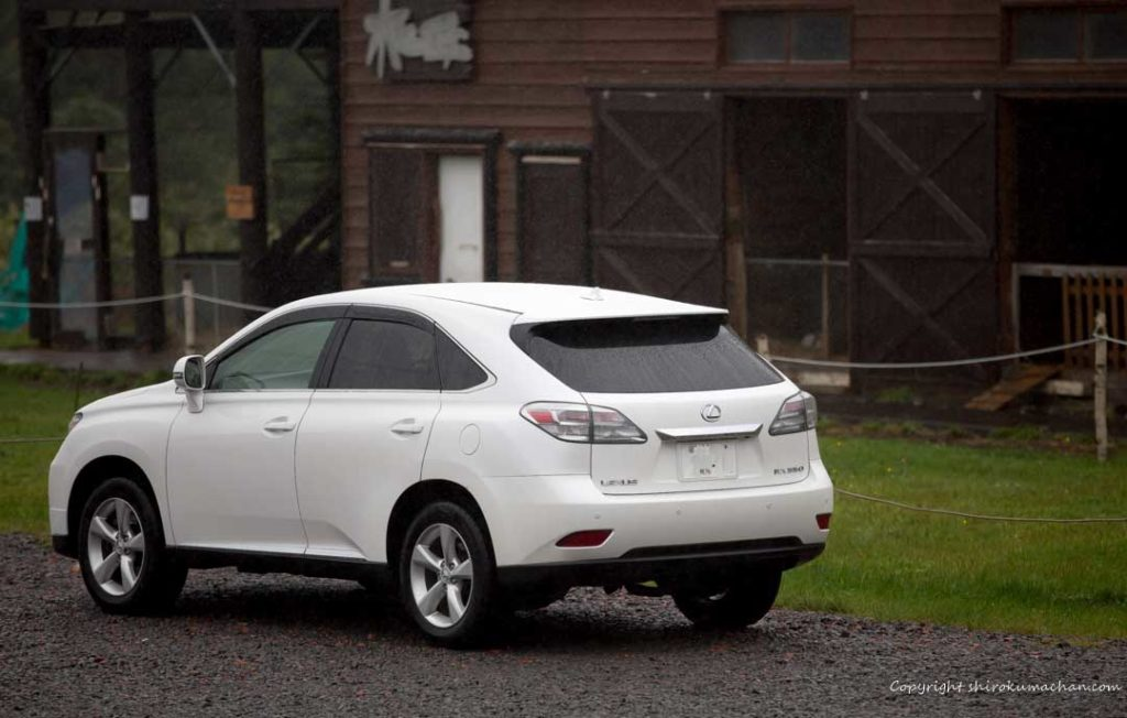 Lexus RX at a farm