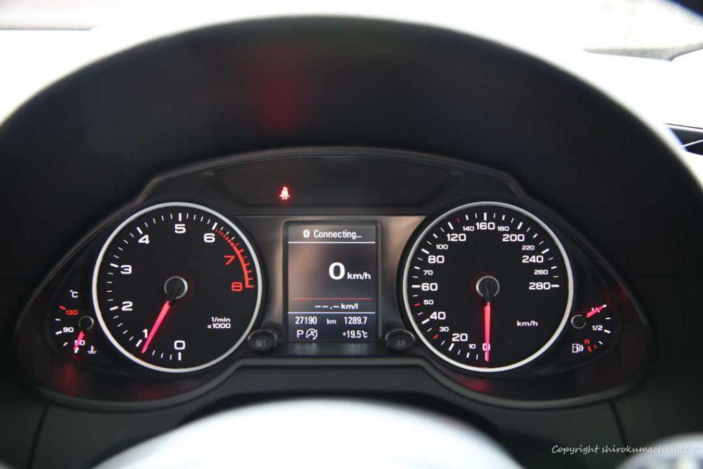 audi q5 speedometer display