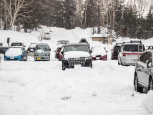 alphard rent a car for ski trip