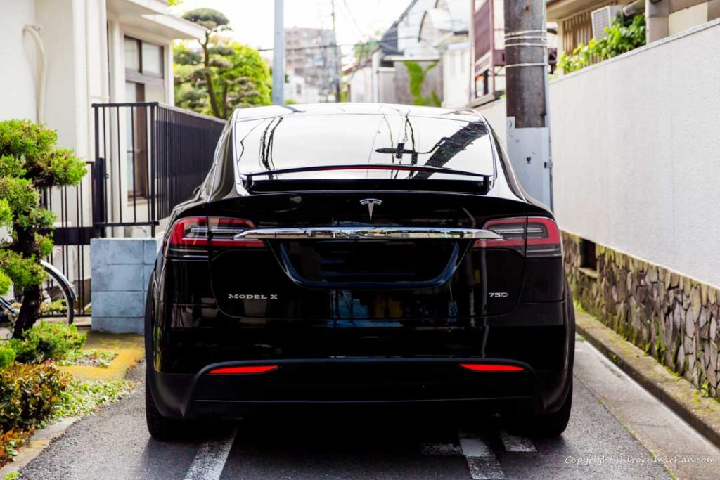 Tesla Model X Too big Rear