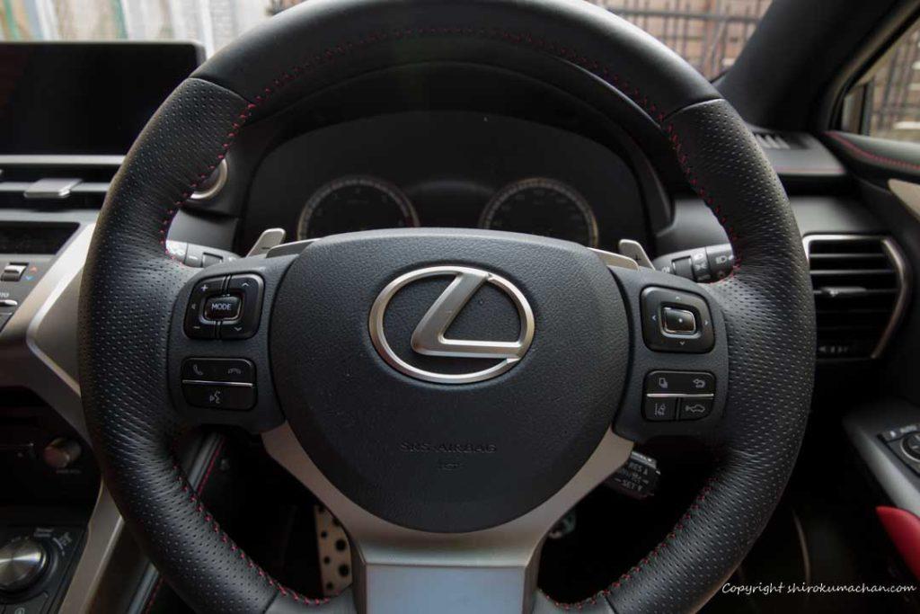 Lexus NX F Sport Steering