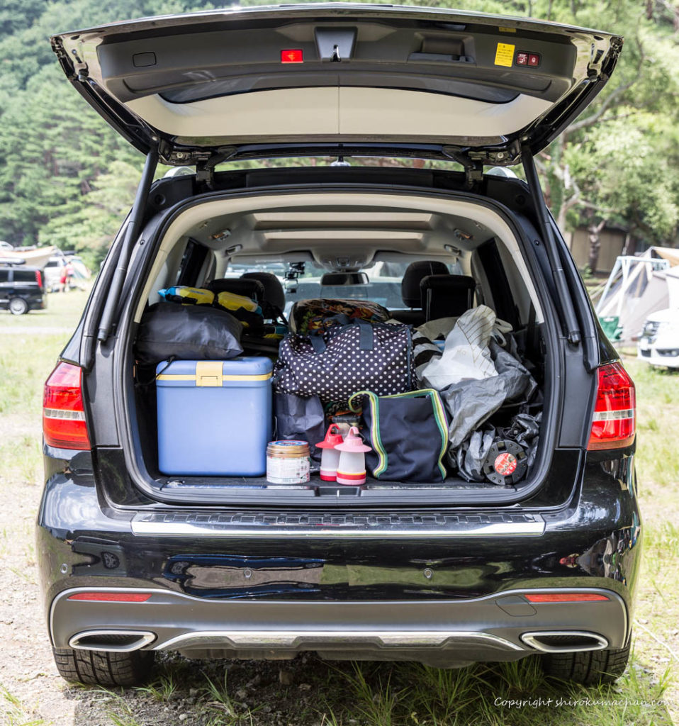 mercedes benz gls 350d-luggage space for camping