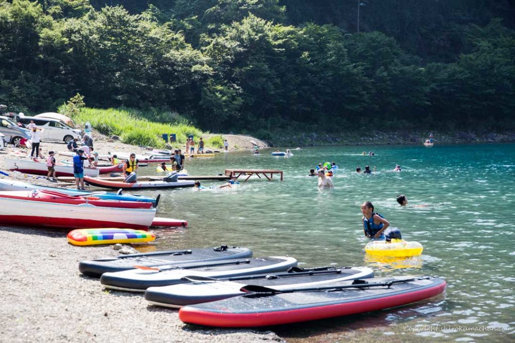 motosu-lake-side-camp-site SUP