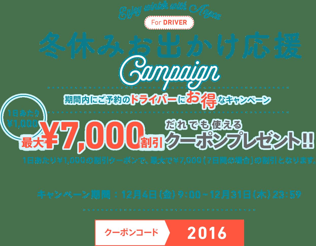 Anyca campaign in 2015 winter