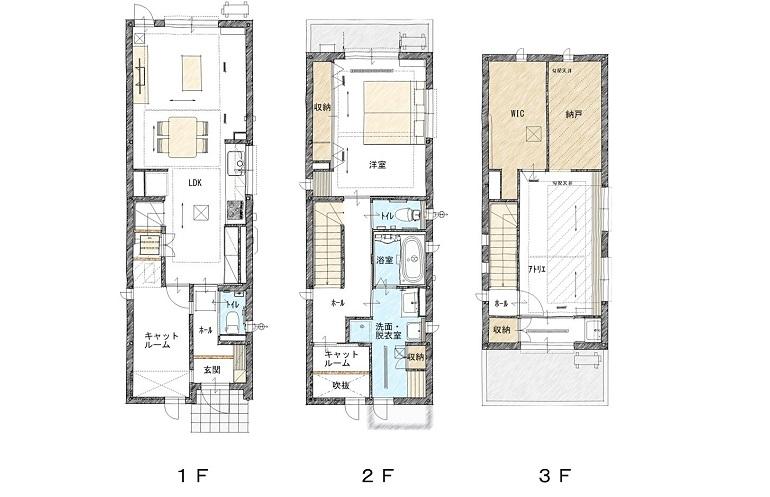panasonic homes narrow house plan