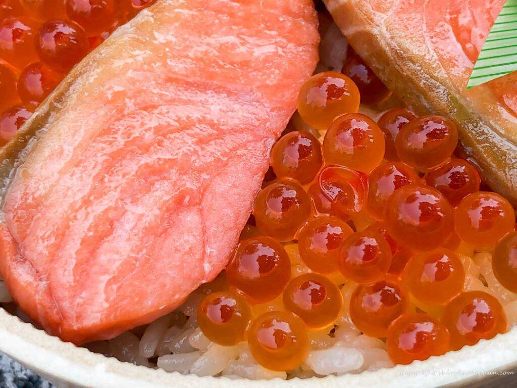 宮城海の輝き~紅鮭はらこめし~さけ