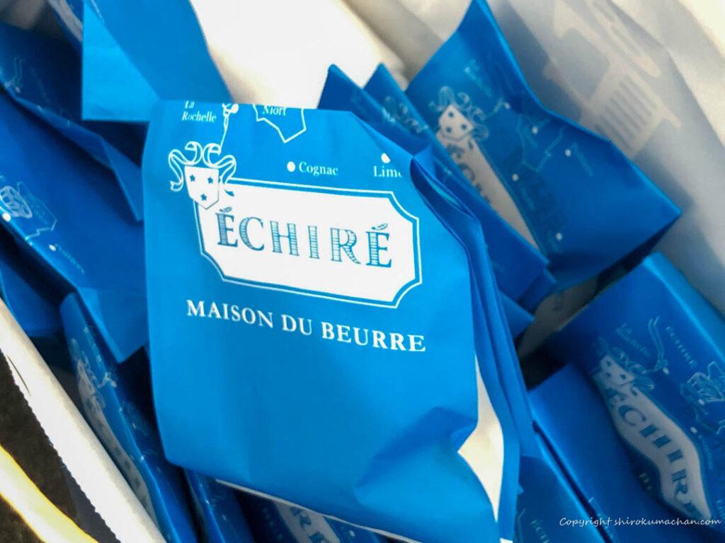 エシレ 丸の内 フィナンシェとマドレーヌの紙包装