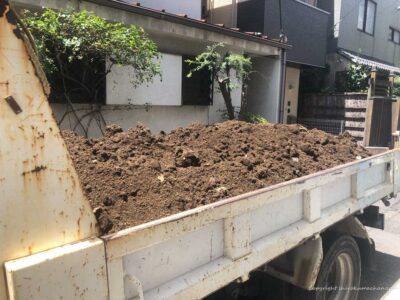 soil in a truck