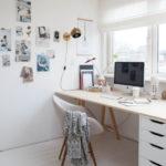 【簡単自作でおしゃれ】IKEAのパソコン用デスク 無垢天板