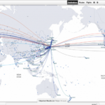 スターアライアンス ワンワールド 航空路線図 就航都市がわかります
