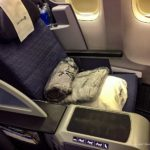 【料理と座席は?】ユナイテッド航空ビジネスクラス搭乗機
